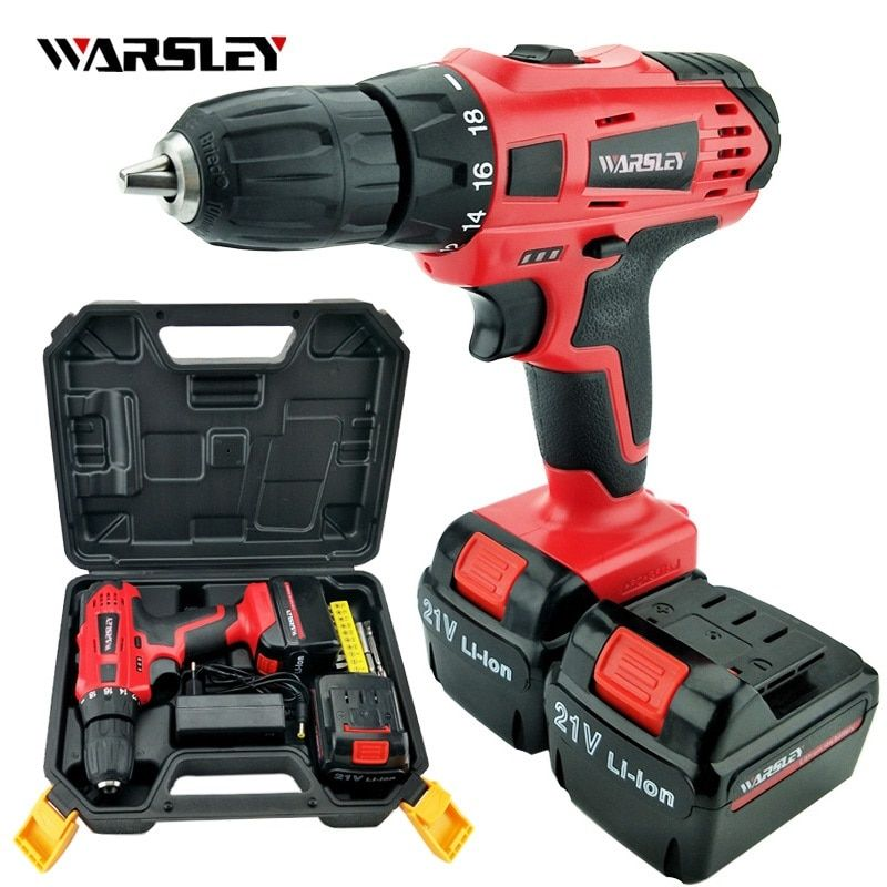21v electric Drill power tools Cordless torque Drill Batteries Screwdriver Mini electric screwdriver cordless drilling