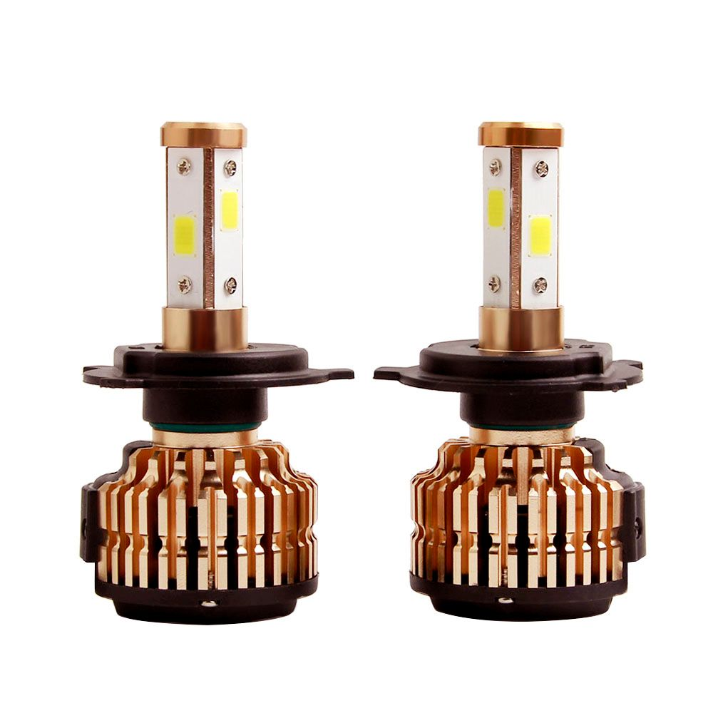 2X H4 LED H7 H11 H8 9006 HB4 COB 4 sides Auto Car Headlight 75W 10000LM High Low Beam Bulb All In One Automobile Lamp 6500K 12V