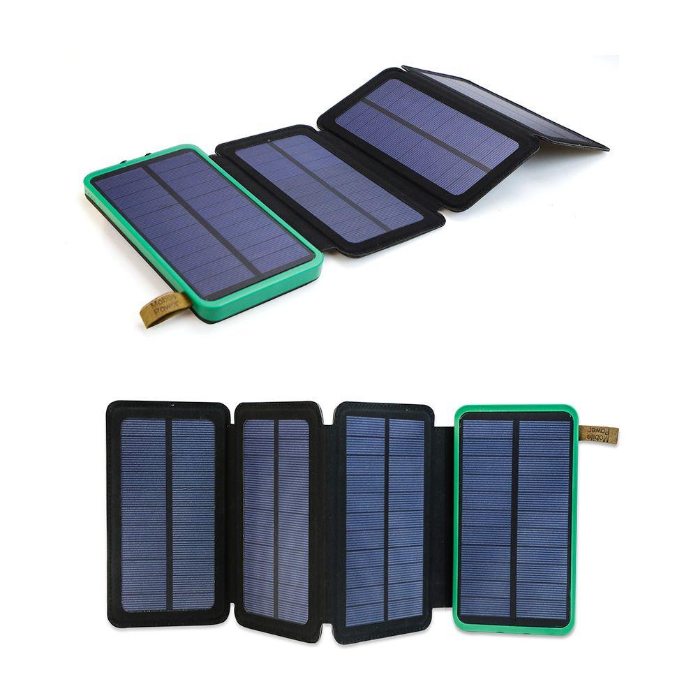 Solaire Alimenté Solaire Power Bank 10000 mAh Portable Chargeur Solaire pour iPhone iPad Samsung HTC LG etc à L'extérieur.