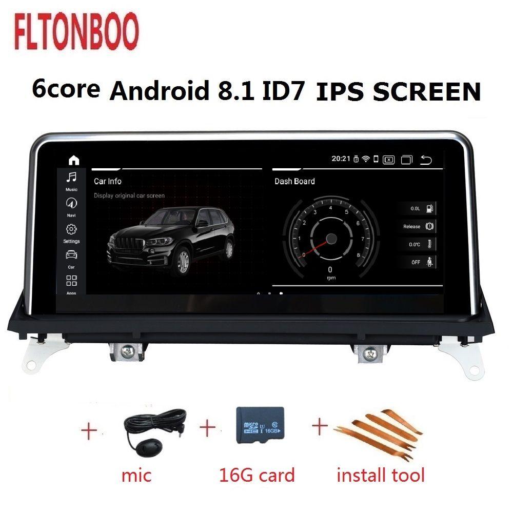 10,25 zoll Android 8.1 Auto Gps radio plyaer navigation ID7 für BMW X5 X6 E70 6 core 2 GB RAM 32 GB ROM unterstützung wifi bluetooth