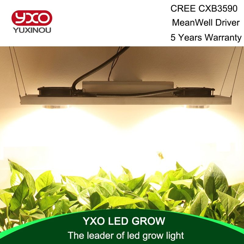 CREE CXB3590 CXB3070 CXA3070 200W 36000LM 3500K COB LED Grow Light Full Spectrum Growing Lamp Indoor Plant Growth Panel Lighting