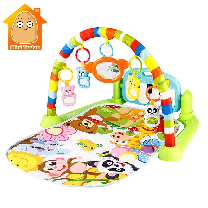 Mini Tudou Bébé Jouer Tapis Enfants Tapis Éducatifs Puzzle Tapis Avec Piano Clavier Et Mignon Animal Tapis de Jeu Bébé Gym