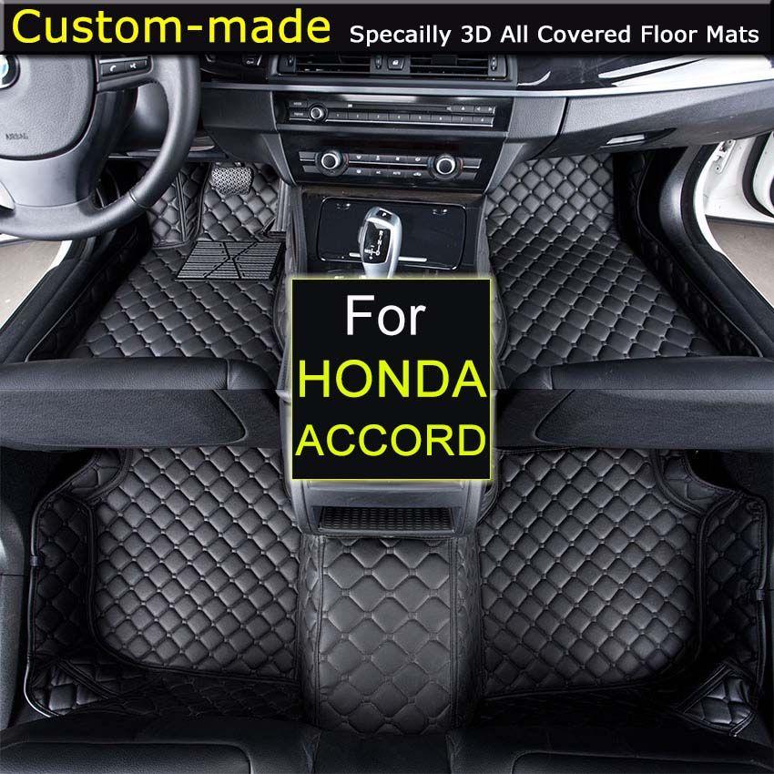 For Honda Accord 6 / 7 / 8 / 9 2004 2008 2013 Honda 2.3 1993-2002 Car floor Mats Custom Carpets Car Styling Foot Rugs for Accord