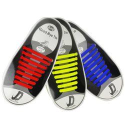 16 pcs Paresseux Élastique Silicone Lacets Sans Cravate de Course Sneakers Cordes Lacets
