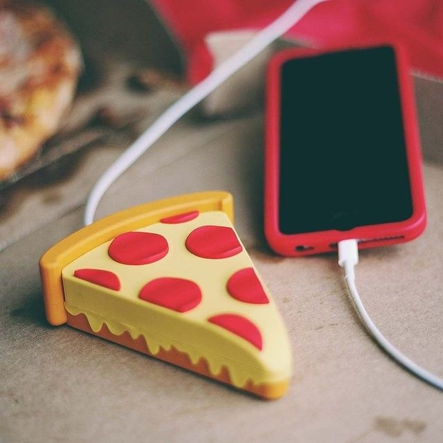 NEW 8800mAh Power Bank French fries Pizza Eggplant Unicorn Power Bank EMoji Power Battery charger for iphone7 8 samsung s7edge