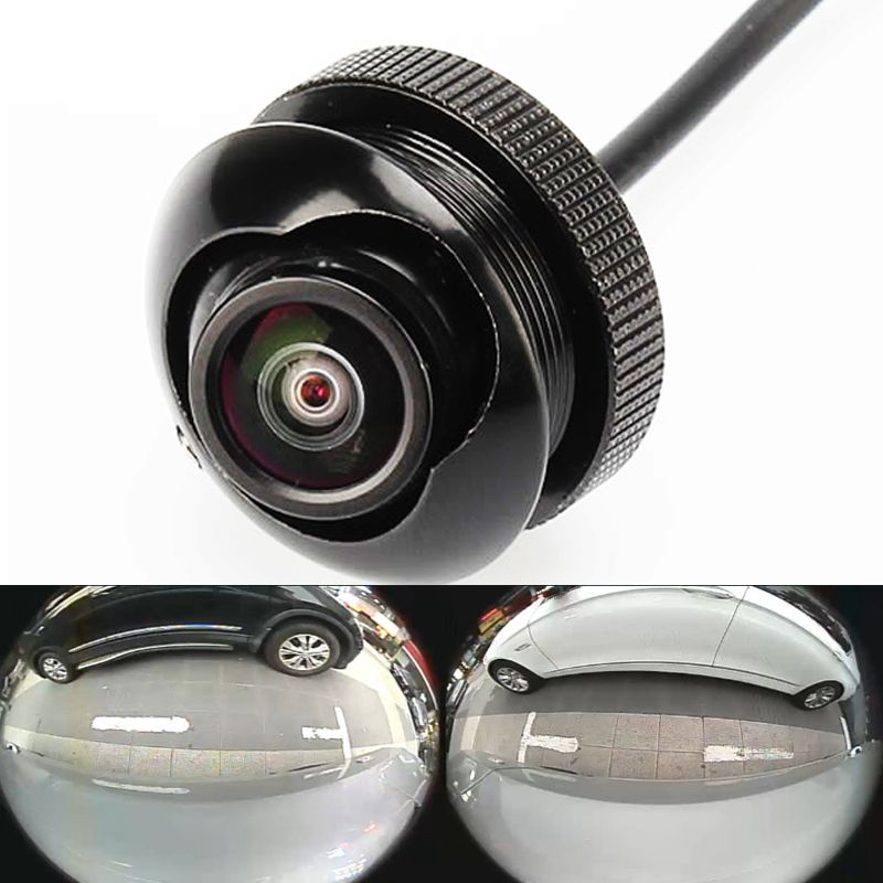 600L CCD 180 degree camera Fisheye LENS wide <font><b>angle</b></font> Rear Front side view reverse backup camera 360 rotato night vision waterproof