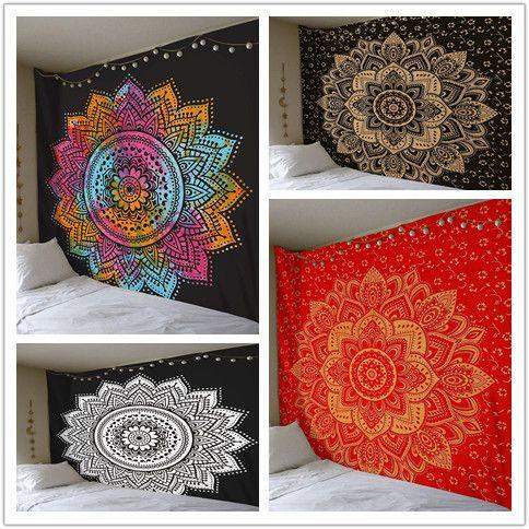 Polyester Indian Mandala Tapestry Wall <font><b>Hanging</b></font> Bohemian Hippie Home Decor Blanket Beach Yoga Large Mandala Wall Tapestry Art