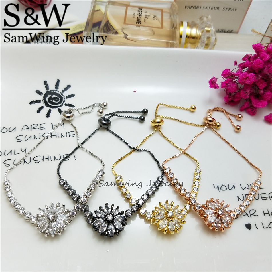 2017 Natural Beauty Exquisite Flower Bracelet  Fashion  High-quality Jewelry Gift for Women Girl Colorful