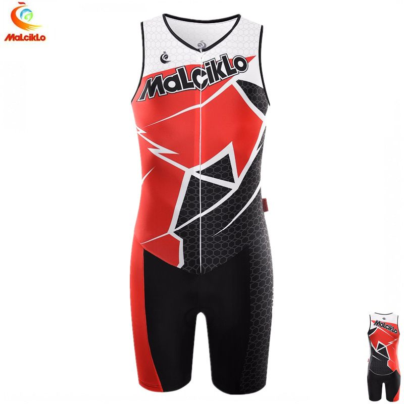Malciklo Men's Sleeveless Cycling Triathlon Suit High quality 2018 Ropa Ciclismo Maillot Cycling Sets Skinsuit Bike Clothing