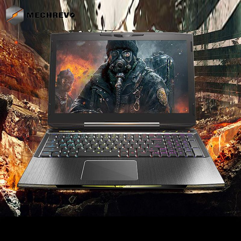 MECHREVO X8Ti Gaming Laptop Windows 10 15.6 Notebook Core i7-8750H Computer Gamer gtx 1060 Notebooks 8G 128GPCIE+1T 144Hz
