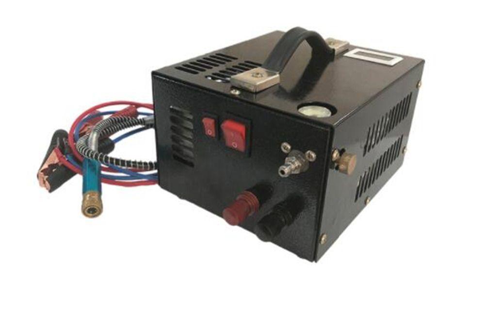 4500PSI 300Bar 30Mpa 12V pcp luft kompressor 12V mini pcp kompressor einschließlich transformator