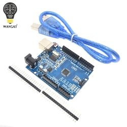 high quality One set UNO R3 (CH340G) MEGA328P for Arduino UNO R3 + USB CABLE ATMEGA328P-AU Development board
