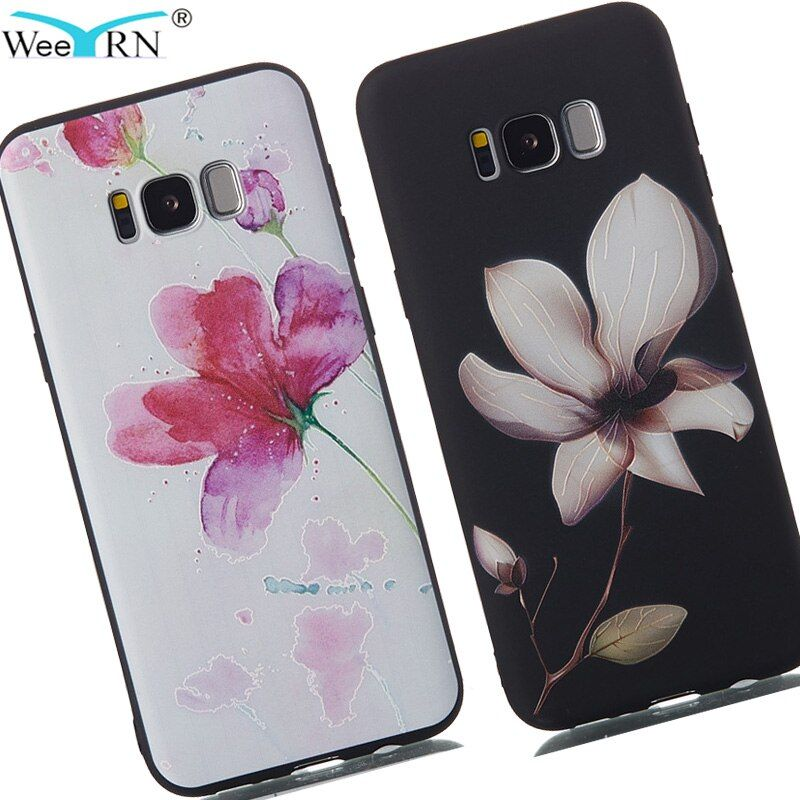 3D Flowers Premium Silicone Soft Case for Samsung Galaxy S8 G950F / S8 Plus G955F TPU Back Cover for Samsung S8 S8Plus