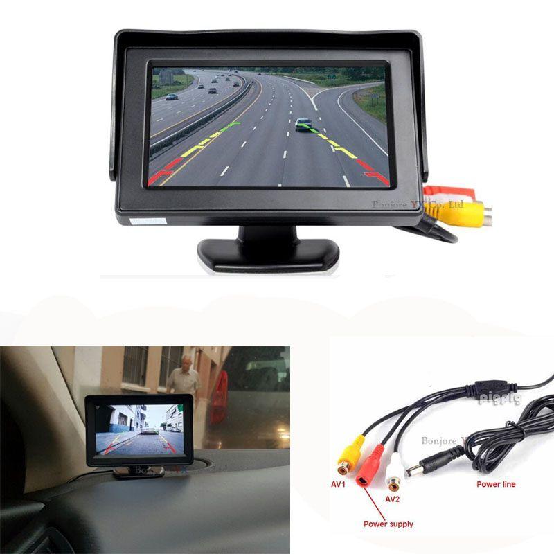 Koorinwoo система парковки автомобиля Мониторы 4.3 TFT ЖК-дисплей цифровой экран 840*480 поддержки PAL/NTSC экран ТВ- тюнер аудио/видео Вход