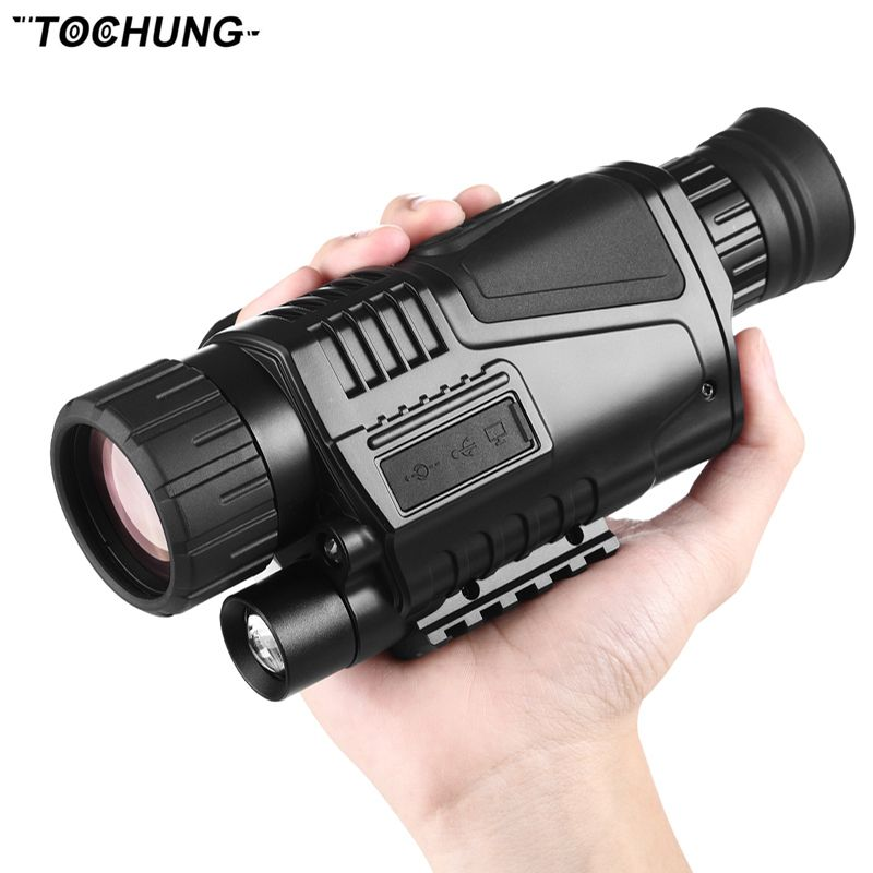 5 x 40 Infrared Night Vision Telescope Military Tactical Monocular Powerful HD Digital Vision Monocular Telescope High Quality