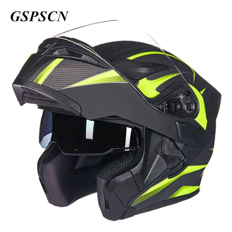 GSPSCN Double Lense Motorcycle Helmet Full Face Helmet Casco Racing Capacete with Sun Visor Capacete Casque moto Capacete