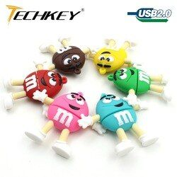 USB Flash Drive Pen Drive Flashdisk 8 Gb 16 GB 32 GB 64 GB 128 GB U Disk Lucu Mm rainbow Kacang Massal Flash Hot Sale