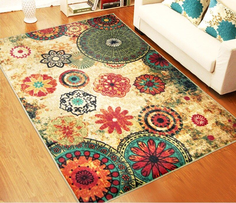 LYN&GY Luxury Jacquard Sofa Chair Floor Mats Doormat <font><b>Rugs</b></font> and Carpets for living room Area <font><b>Rugs</b></font> for Kitchem Bedroom Wholesale