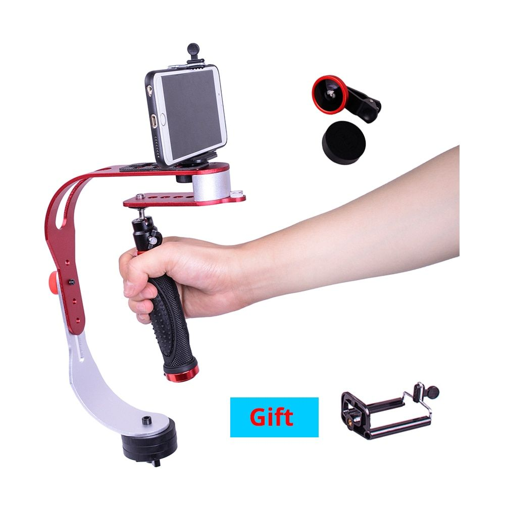 Handheld DSLR Camera stabilizer mini video steadicam smartphone stabilizer for Sony Nikon Canon shooting video with lens option