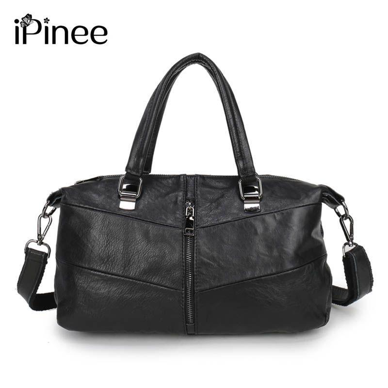 iPinee 2018 Genuine Leather Women Shoulder Bag Famous Brand Handbags Designer Pinee Fashion Bags