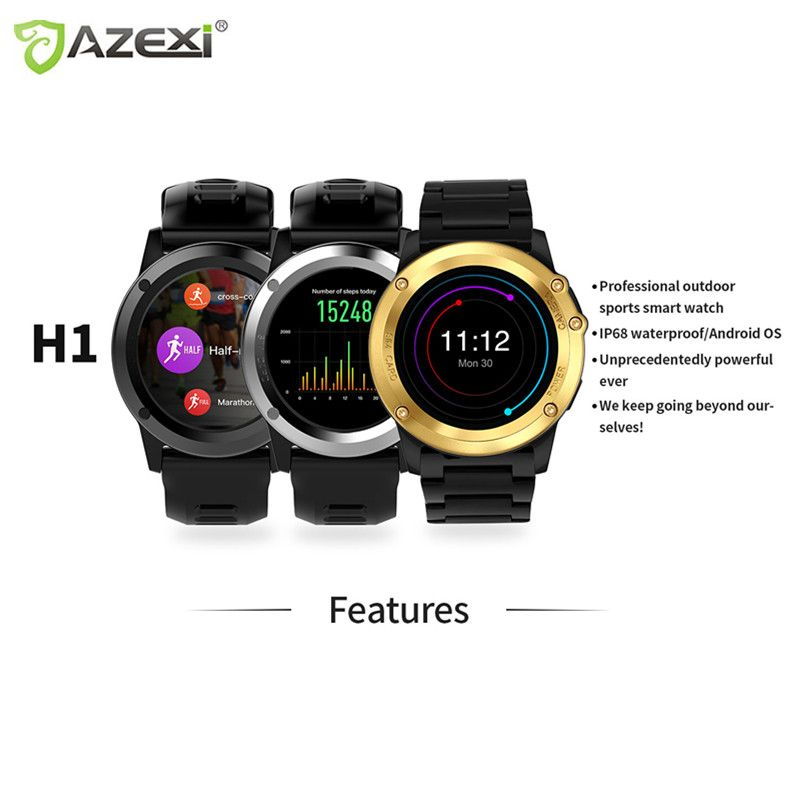 Azexi bluetooth Sport Smart Watch 1.39inch 400*400 IP68 Waterproof 1.4inch heart rate WIFI 3G Taking pictures For Android IOS S