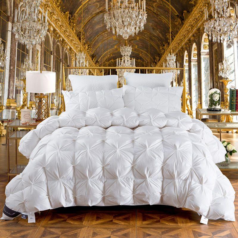 TUTUBIRD White Luxury Bread Duvet Filling Goose Duck Down Winter warmest Comferter Quilt Blanket with 2.7~4.9kg Filler