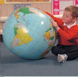 40CM Inflatable World Globe Teach Education Geography Toy Map Balloon Beach Ball