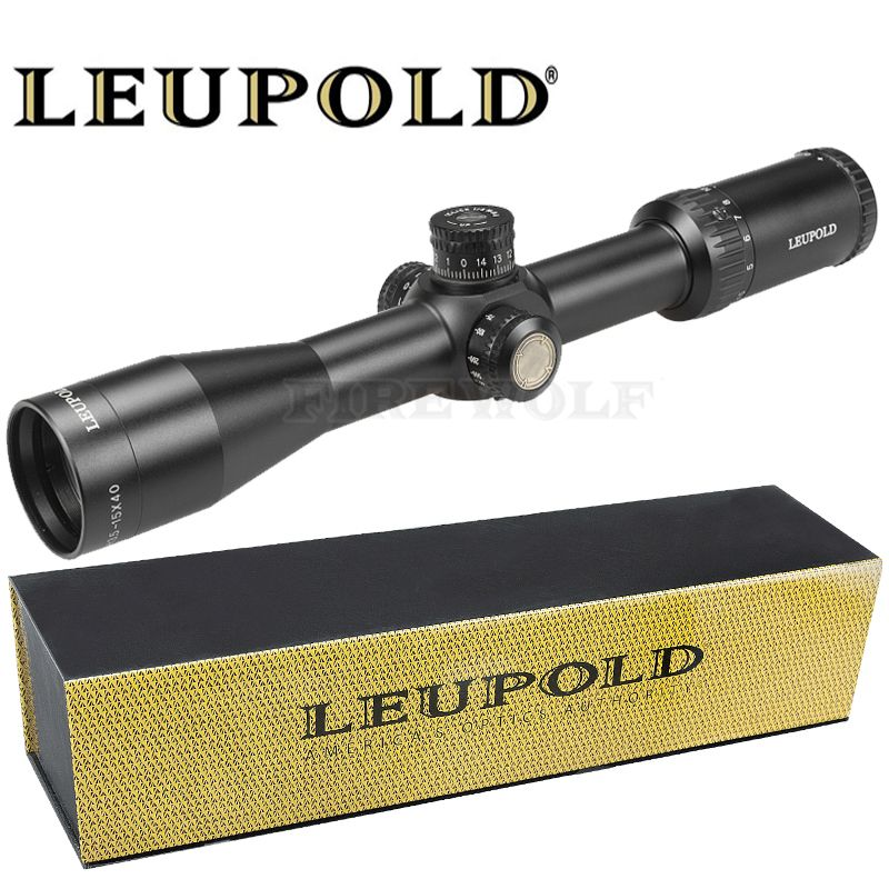 LEUPOLD 3.5-15X40 SFY Brand Hunting Rifle Sight Mirror Point Lighting Side Wheel Monocular Collimator