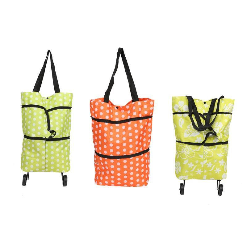 Foldable Shopping Trolley Bags Rolling Wheels Storage Grocery Cart Reusable Shopper Bags Items Gear Stuff Accessories Supplies