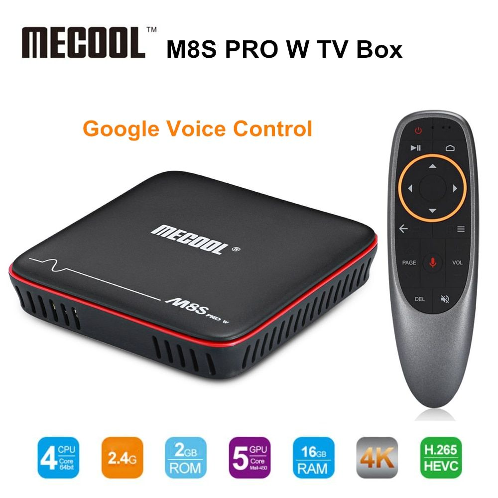 Mecool M8S PRO W 2.4G Voice Control Smart TV Box Android 7.1.1 Amlogic S905W 2GB RAM 16GB ROM Set Top Box H.265 4K Media Player