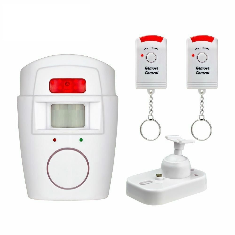 IR Infrared Motion Sensor Detector Wireless Remote Controlled Mini Alarm 105dB Loud Siren For Home Security Anti-Theft