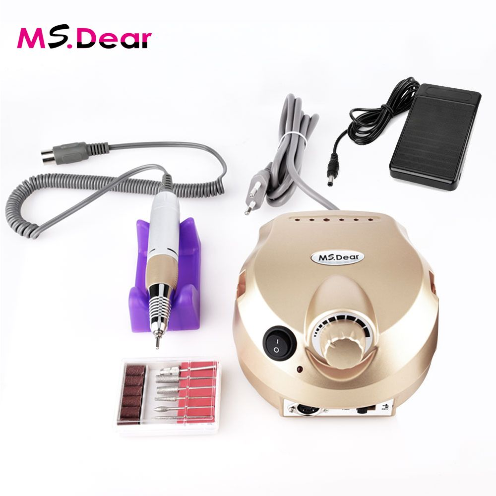 35000RPM Electric File Drill Nail Art Polisher Tool Bit Machine Professional Manicure Pedicure Kit Sand Band Accessory Equipment