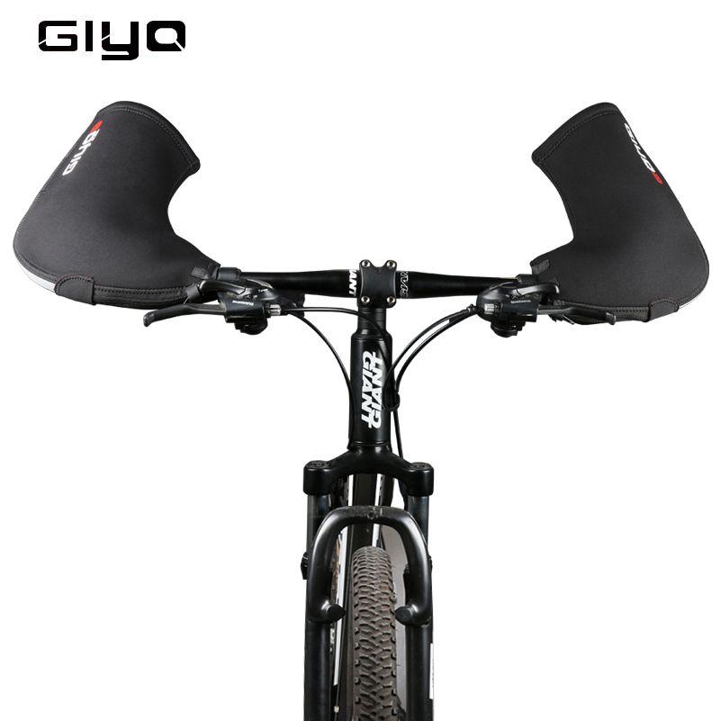 GIYO Winter Bike Gloves Windproof Waterproof Road MTB Bike Cycling Handlebar Gloves Keep Warm Cover Long Mittens Cycling Gloves