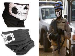 2016 NEW CS Cosplay Ghost Skull Black Face Mask Cap Motorcycle Biker Multi functional Skeleton Hat Scarf Balaclava