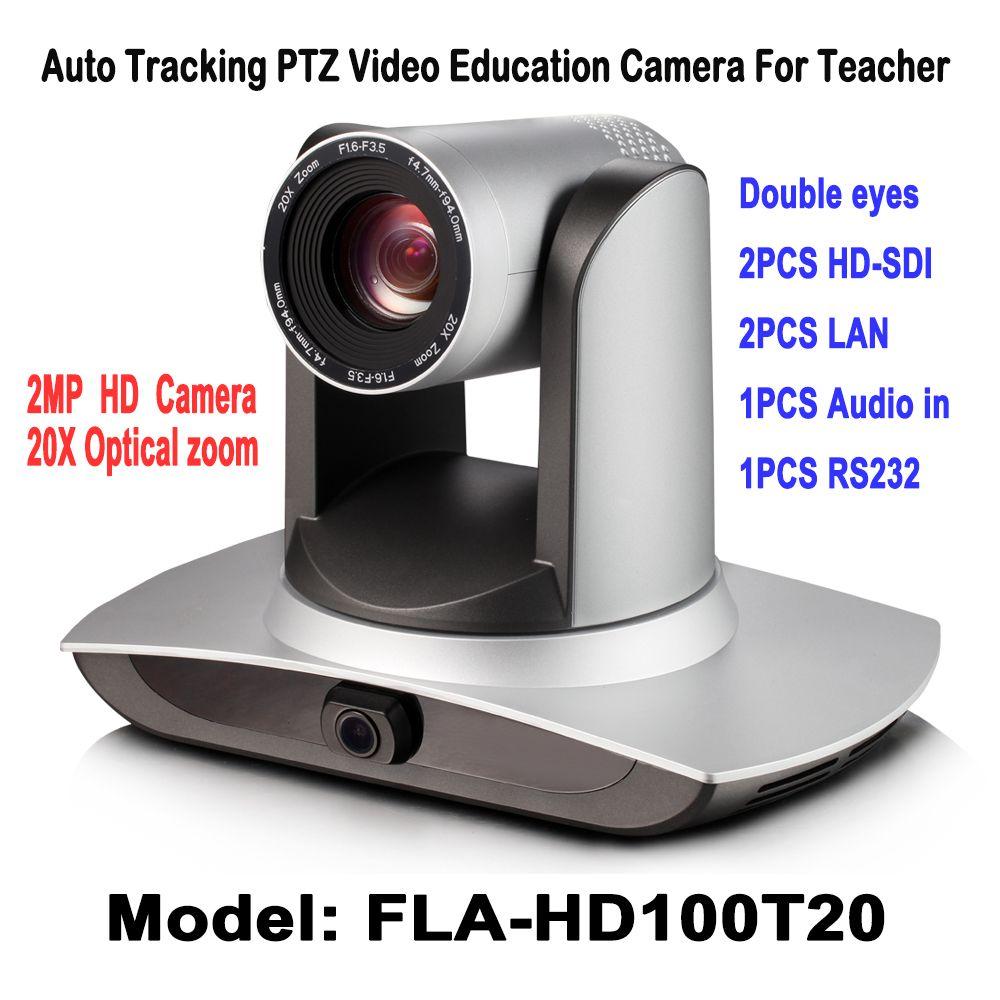 20X de Zoom Auto Tracking PTZ Cámara 2.0 Megapíxeles 2ch Vídeo Educación 3G-SDI Para Maestro etapa/pizarra Acción vídeo Panorámico