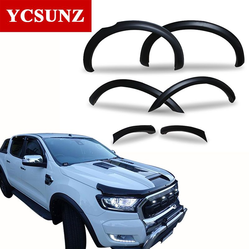 Fender Flares For Ford Ranger 2018 Wildtrak Accessories Mudguards For Ford Ranger 2016 2017 Parts Ycsunz