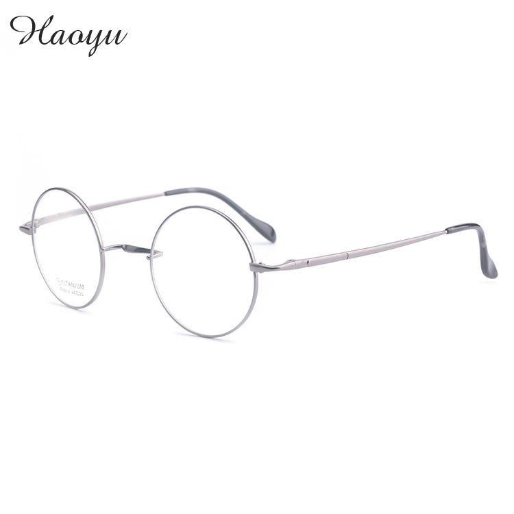 haoyu Fashion wizard Harry pure titanium glasses frames men women round optical eyeglasses Spectacles Frames Oculos De Grau