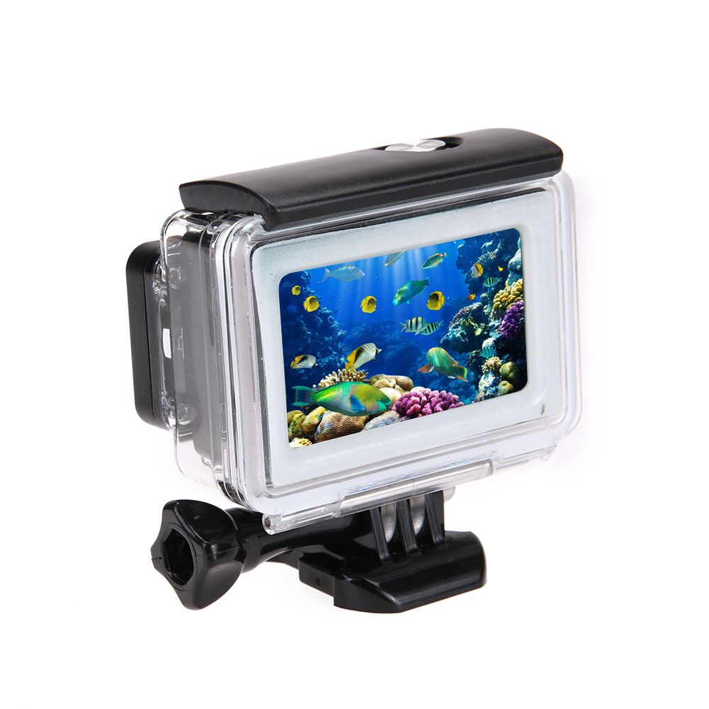 35m Diving Waterproof Touch Cover Case For Xiaomi Yi 4K 2 II Action Camera for Xiaomi Yi Protective Shell Camera Accessories