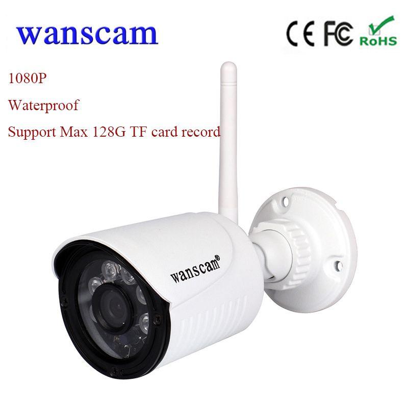 New Wanscam HW0022 1080 P wifi ip-kamera drahtlose cctv-kamera außen wifi überwachungskamera 2MP wasserdicht unterstützung 128G tf-karte