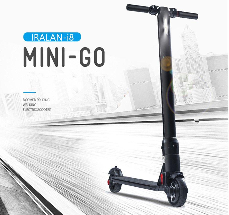IRALAN i8 Elektro-scooter 2 Rädern Intelligente Elektroroller SkateBoard Erwachsenen Mini Faltbare Fahrrad Hoverboard 15 km Lebensdauer der Batterie
