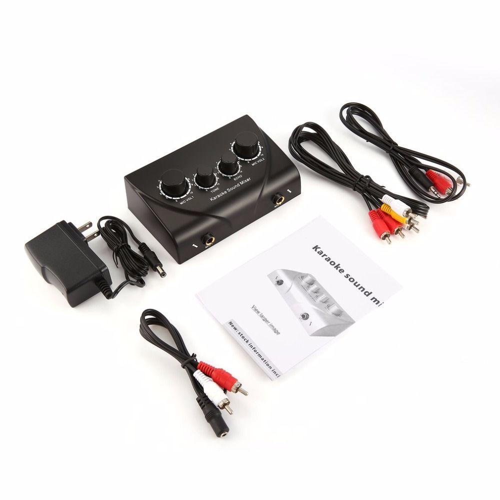 Караоке Sound Mixer Профессиональное аудио Системы Портативный Мини цифровой аудио звук караоке эхо смеситель Системы