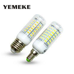 Super LED Bulb E27 E14 220V SMD 5730 LED Lamp 24 36 48 56 69leds AC 230V 5730SMD LED Corn Bulb light Chandelier AC200-240V