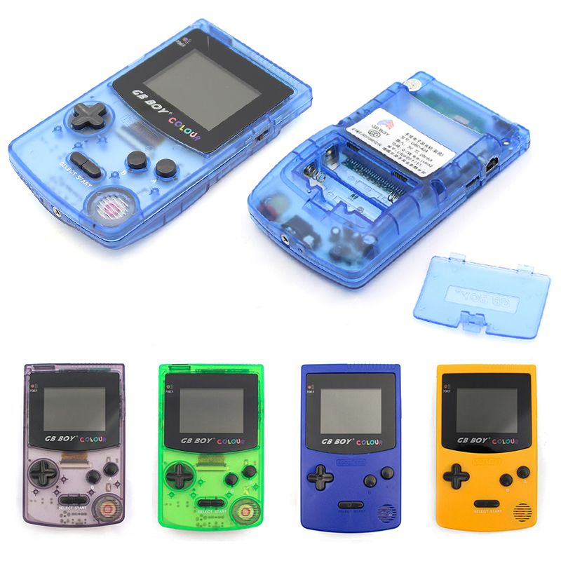 JRGK GB Boy Classic Color Colour tetris Handheld Game Console Portable Child Game Player with Backlit spelcomputer met Games