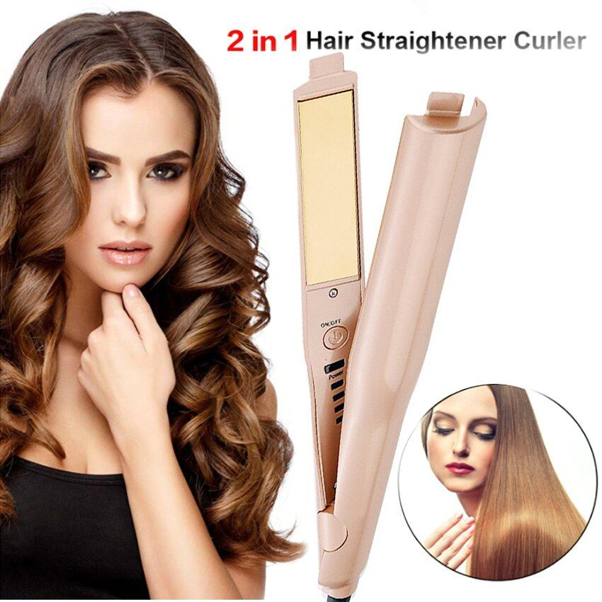 2019 Hot Selling Curling Irons Professional Hair Curler Quality 2-in-1 Hair Curling & Straightening Iron hair styling tools