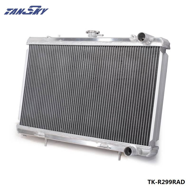 TANSKY - For 89-93 Nissan Skyline R32 RB25 RB20 Aluminum Race Radiator 2 Row MT Manual 50MM TK-R299RAD