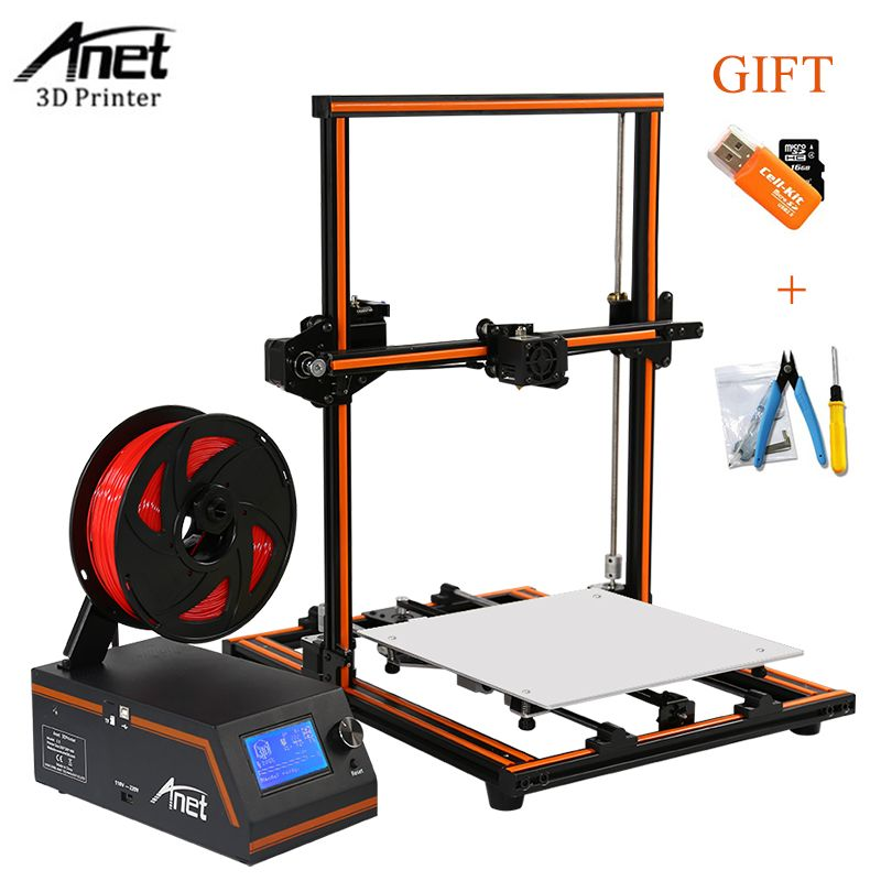 Anet E12 Aluminum Frame Dual-language 3D Printer Kit DIY Set Auto Level High Precision Large Printing Size Desktop 3d Printer