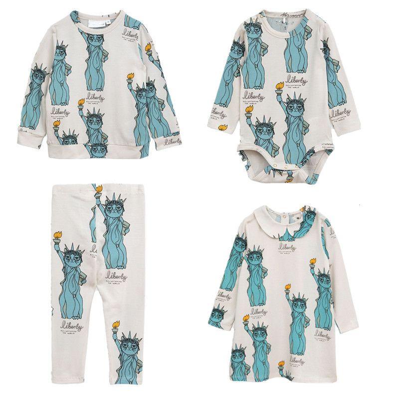 BOBOZONE 2018 F/W Liberty Collar Dress Baby body leggings and -shirt for children boys girls