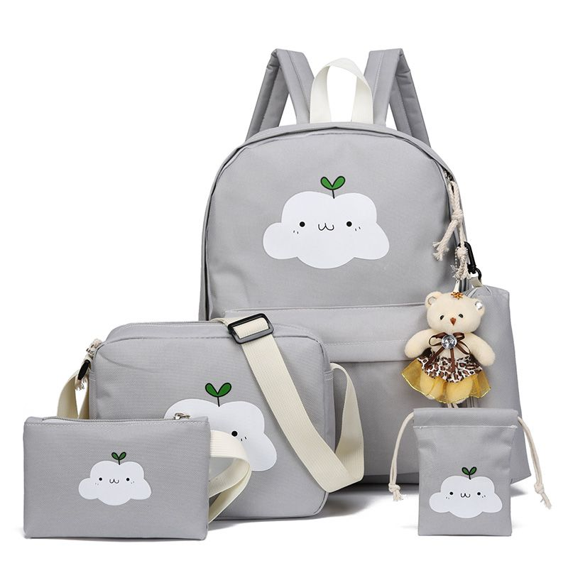 2018 New Fashion Nylon Backpack Schoolbags School For Girl Teenagers Casual Children Travel Bags Rucksack Cute <font><b>Cloud</b></font> Printing