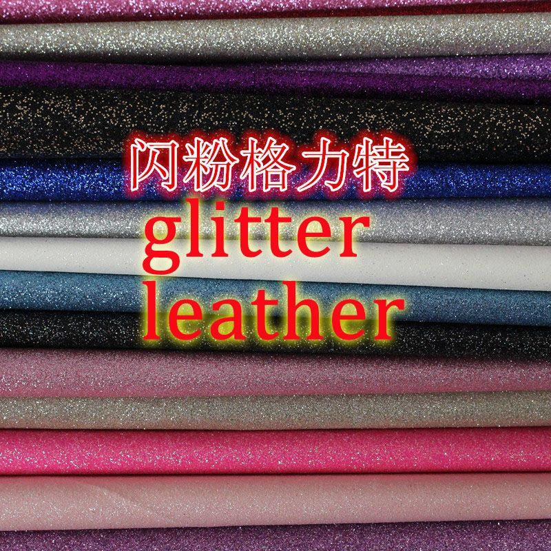 Multi couleur en stock synthétique PU paillettes tissu cuir matériel s1001