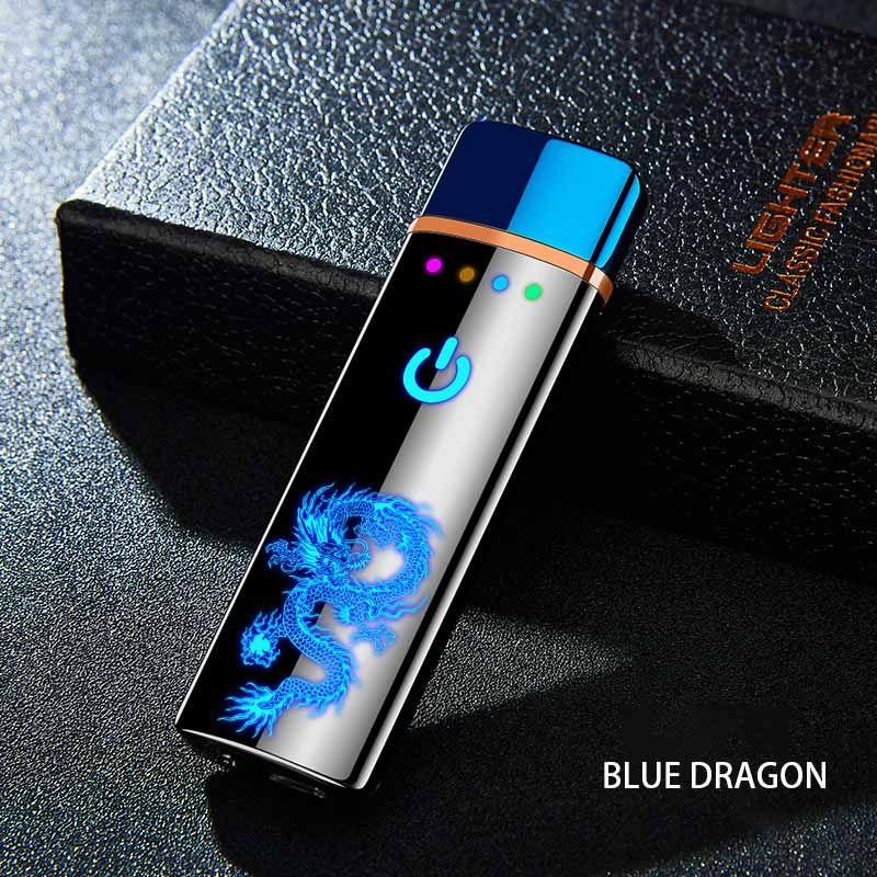 De tungstène Turbo USB Léger Tactile Léger Courbe Plein Écran Cigarettes Pour Fumer Briquet Électronique Peut Personnalisé laser Logo